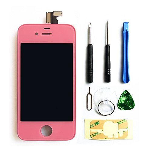 Ztr Generic Replacement Lcd Touch Screen Digitizer Assembly For At&T Gsm Iphone 4 Pink