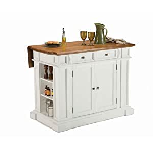 Home Styles 5002 94 Kitchen Island White And Distressed Oak Finish Kitchen Dining