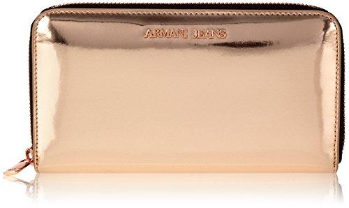 Armani JeansC5V32R8 - Portafogli Donna , Rosa (Pink (ROSA ANTICO M4)), 2x10x19 cm (B x H x T)