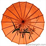 Japanese Chinese Umbrella Parasol 32in L-Orange 156-8