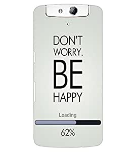 ColourCraft Quote Design Back Case Cover for OPPO N1