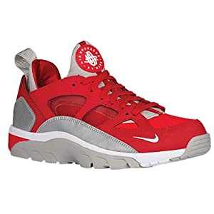 Nike  Air Trainer Huarache Low, Chaussures de Running Entrainement homme - Multicolore - Rojo / Blanco / Plateado (Unvrsty Rd / White-Mtllc Slvr-Mt), 42 1/2 EU