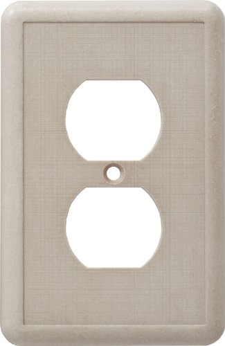 CAST STONE SINGLE DUPLEX OUTLET PLATE IVORY