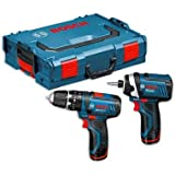 Cutting-Edge Bosch GSB10.8-2-Li Cordless Combi and GDR10.8V Impact Driver Kit 10.8V [Cleva Edition]
