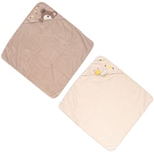 Babies R Us B Is For Bear Towel 2 Pack