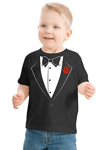 Ann Arbor T-shirt Co. Big Boys` Tuxedo Tee | Kid`s Wedding Youth & Toddler Shirt-Youth Small (6-8)