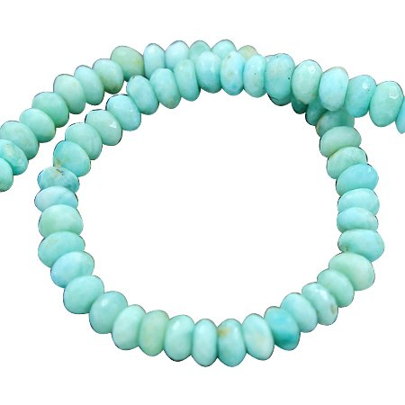 925 Silver Roundel Lovely Aaa Natural Larimar Gemstone Beads Size 9 Inches