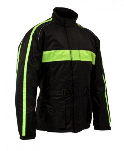 Roleff Racewear 10015 Veste Imperméable Tendance, Noir/Jaune Fluo, XL