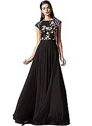 Kenil Fabrics Women's black silk dress material