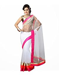 Ethnicbasket Net Off White Colored SareeEBS10103610007