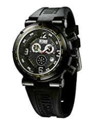 Offshore Men's OFF002XLG Challenge XL Black PVD Chronograph Water Resistant Rubber Watch