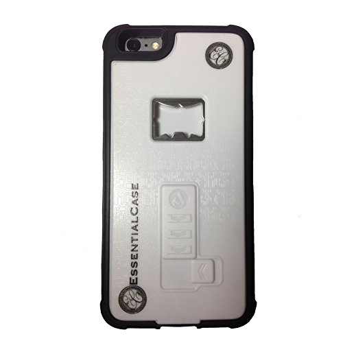 EssentialCase Phone Case, for iPhone 6/6s and 6+/6s+ Built-in Cigarette Lighter/Bottle Opener Case (White 6+/6s+)