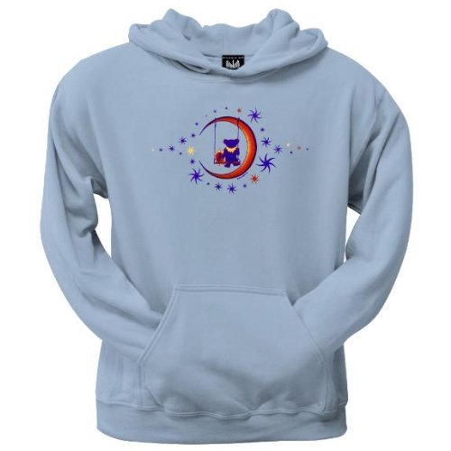 Old Glory Mens Grateful Dead - Moon Swing Pullover Hoodie - Large Light Blue