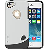 iPhone 5 Case, Slicoo® [Lifetime Warranty] Pebble Series Dual-layer TPU Rubber Protective Carrying Cover Case for iPhone 5/5S