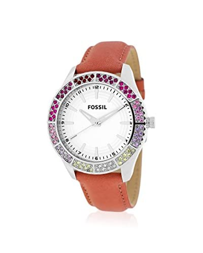 Fossil Women's BQ1220 Classic Brown/White Stainless Steel Watch