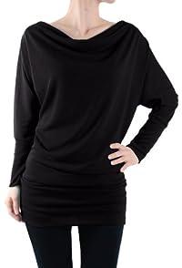 LeggingsQueen Women's Long Sleeve Basic Tunic Top