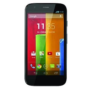 Motorola Moto G Smartphone (11,4 cm (4,5 Zoll) HD-Display, Qualcomm-Prozessor, 8GB, Android 4.3 OS, 5 MP Kamera, inkl. Netzteil) schwarz