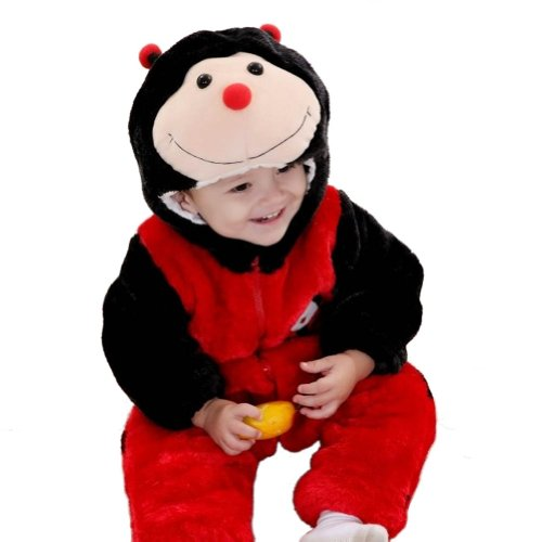 Meilaier Halloween Costume Baby Winter Newborn Romper Animal Ladybug Toddler baby Onesie Outfits Suit