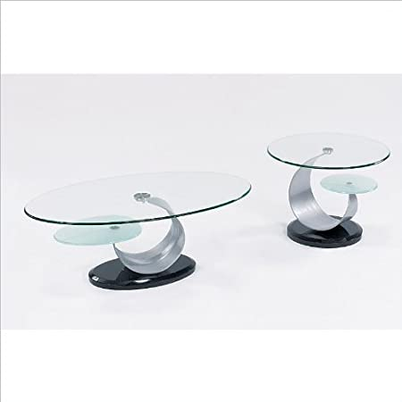 Global Furniture USA Juno Glass Top Occasional Coffee Table Set