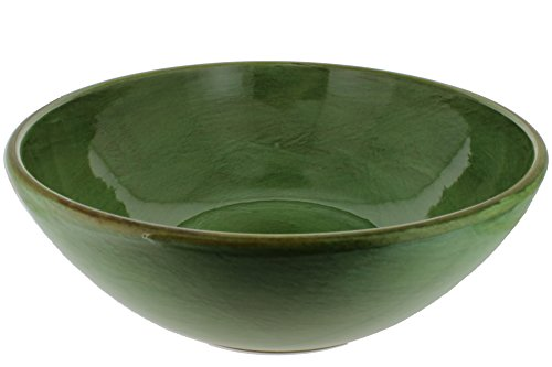 French Home Italian Stoneware Deep Salad Serving Bowl 13 and 1/2