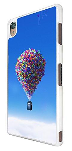 264 - Floating Balloon Doctor Who Tardis Design für Alle Sony Xperia Z / Sony Xperia Z1 / Sony Xperia Z2 / Sony Xperia Z3 / Sony Xperia Z4 / Sony Xperia Z1 Compact / Sony Xperia Z2 Compact / Sony Xperia Z3 Compact / Sony Xperia Z4 Compact / Sony Xperia M2 / Sony Xperia M4 Fashion Trend Hülle Schutzhülle Case Cover Metall und Kunststoff - Bitte wählen Sie Ihr Telefonmodell und Farbe aus der Dropbox