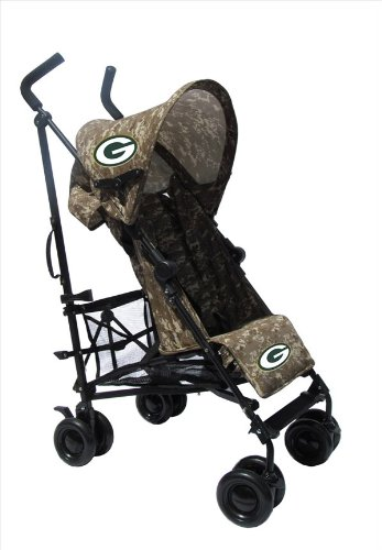 Green Bay Packers Camouflage Umbrella Stroller front-602335