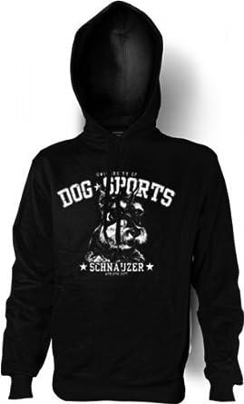 Kapuzen Sweatshirt: Schnauzer (Größe: M), Farbe:Schwarz;Größe:M