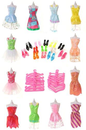 50-Pieces-Of-Barbie-Puppenzubehr-Set-Kleider-Schuhe-Stifte-von-Milly-Shop