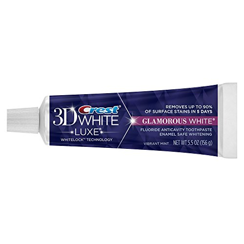 Crest 3d White Luxe Glamorous White Vibrant Mint Flavor Whitening Toothpaste 5.5 Ounce (Pack of 24)