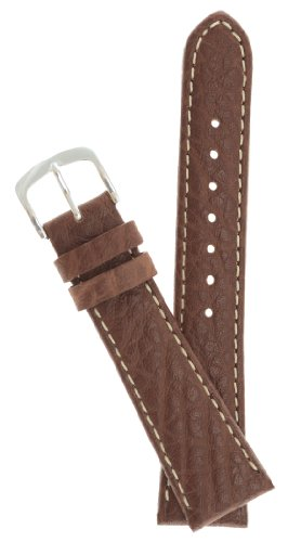 Mens Genuine Italian Leather Watchband Tan 22mm Watch Band - by JP Leatherworks