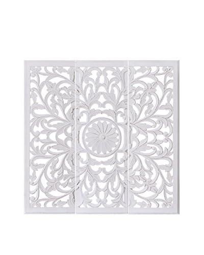 Oosterse wanddecoratie Set van 3 witte