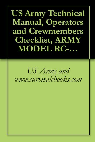 Us Army Technical Manual, Operator'S And Crewmember'S Checklist, Army Model Rc-12N, Pilot'S Checklist, Tm 1-1510-223-Cl, 2001