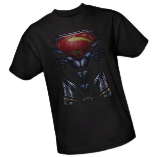 Superman Costume -- Man of Steel Movie Adult T-Shirt