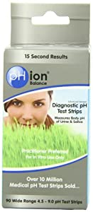 PHion Balance Diagnostic Ph Test Strips, 4.5 - 9.0 ph Range, 90-Count