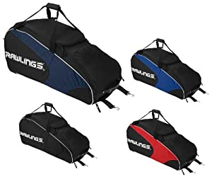 Rawlings WHWB2 Workhorse Wheeled Baseball/Softball Bag Black