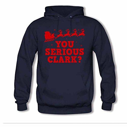 Santas Sleigh You Serious Clark Women's Hoodies S