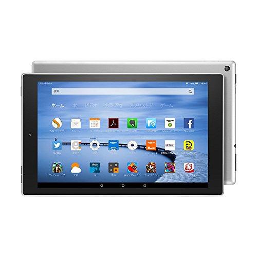 Fire HD 10 タブレット 64GB、シルバー