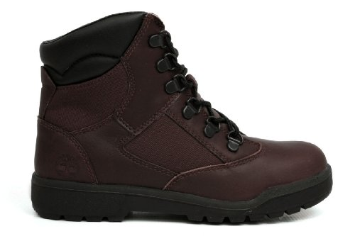 Timberland Big Kids 6 Inch Leather And Fabric Field Boot (43923), 6 M