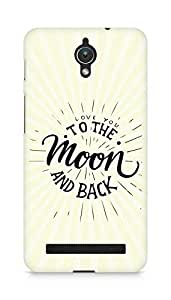AMEZ love you to the moon and back Back Cover For Asus Zenfone C ZC451CG