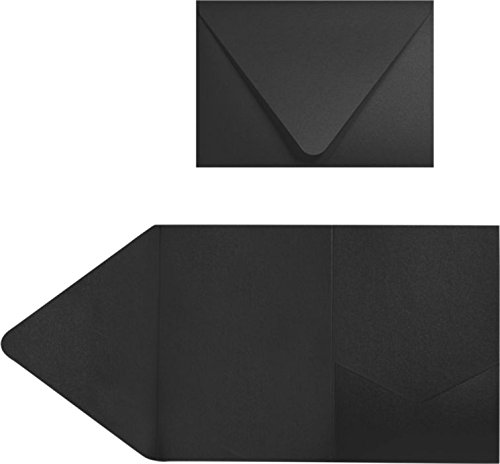 A7 Pocket Invitations (5 x 7) - Midnight Black (50 Qty.)