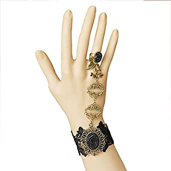 Hisionlee Handmade Craft Romantic Retro Gothic Style Bracelet Ring
