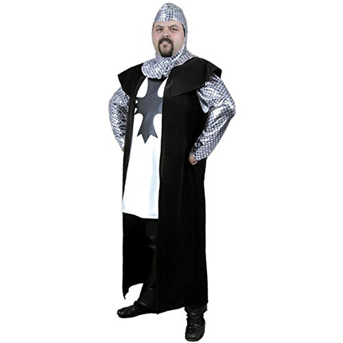 Adult Black Renaissance Knight Costume (Size: Small)