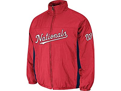 Washington Nationals Red Double Climate On-Field Jacket by Majestic