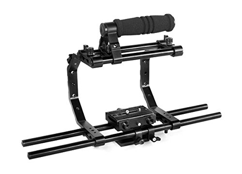 "Flyfilms 6"" Camera cage with top handle for tripod mount Video DV DSLR Camera BMCC Sony Canon"