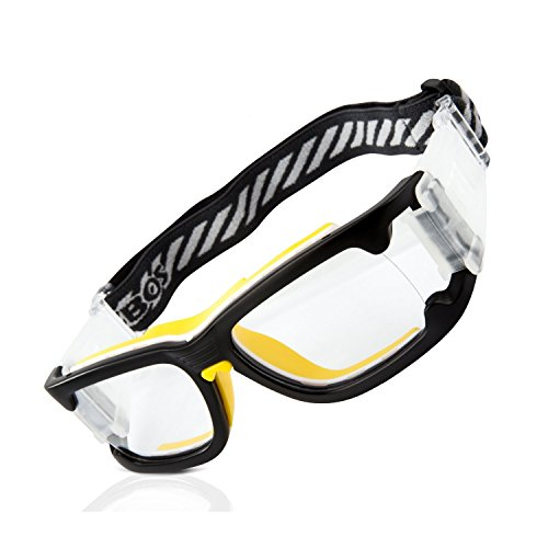 122013f8b0e RIVBOS 1825 Safety Sports Glasses Protective Sports Goggles with Strap and  Portable Case for Basketball Football