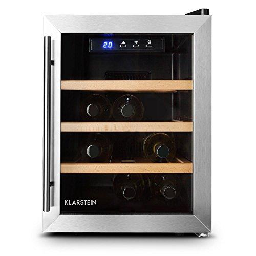 Klarstein Reserva 12 Weinkühlschrank - für 12 Flaschen - silber & schwarz