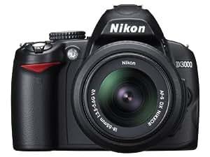 Nikon D3000 Appareil photo numérique Reflex 10.2 Kit Objectif AF-S DX VR 18-55 mm Noir