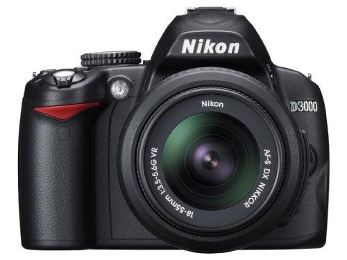 Nikon D3000 Digital SLR Camera with 18-55mm VR Lens Kit (10.2MP) 3 inch LCD