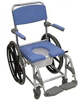 Aluminium Self Propelling Commode & Shower Chair - 0% VAT Relief from Mobility Smart