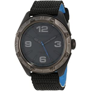 Armitron Men's 204717DGBKBK Men's Sport Dark Gun-Metal Dial and Black Nylon Strap Watch